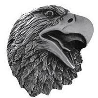 Notting Hill NHK-151-BP, Proud Eagle Knob in Brilliant Pewter , Great Outdoors
