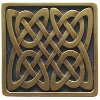 Notting Hill NHK-157-AB, Celtic Isles Knob in Antique Brass, Jewel Collection