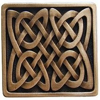 Notting Hill NHK-157-AC, Celtic Isles Knob in Antique Copper, Jewel Collection