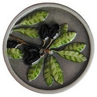 Notting Hill NHK-169-PHT, Olive Branch Knob in Hand-Tinted Antique Pewter, Tuscan Collection