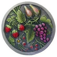 Notting Hill NHK-174-PHT, Tuscan Bounty Knob in Hand-Tinted Antique Pewter, Tuscan Collection