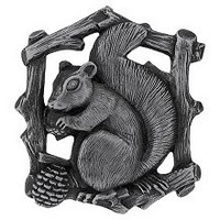 Notting Hill NHK-177-AP-R, Grey Squirrel Knob in Antique Pewter (Right Side), Great Outdoors