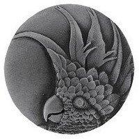 Notting Hill NHK-324-AP-R, Cockatoo Knob in Antique Pewter(Small - Right Side), Tropical