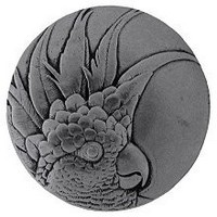 Notting Hill NHK-327-BP-L, Cockatoo Knob in Brilliant Pewter (Large - Left Side), Tropical