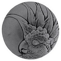 Notting Hill NHK-327-BP-R, Cockatoo Knob in Brilliant Pewter  (Large - Right Side), Tropical