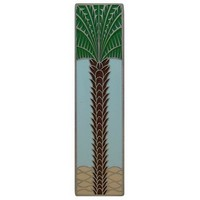 Notting Hill NHP-322-AP-B, Royal Palm Pull in Antique Pewter/Pale Blue (Vertical) , Tropical