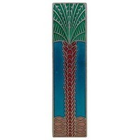 Notting Hill NHP-322-BP-A, Royal Palm Pull in Brilliant Pewter/Turquoise (Vertical), Tropical
