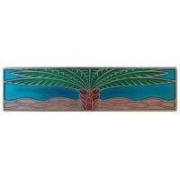 Notting Hill NHP-323-BP-A, Royal Palm Pull in Brilliant Pewter/Turquoise (Horizontal), Tropical