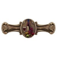 Notting Hill NHP-640-BHT, Best Cellar Pull in Hand-Tinted Antique Brass, Tuscan Collection