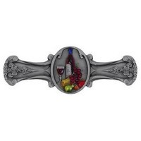Notting Hill NHP-640-PHT, Best Cellar Pull in Hand-Tinted Antique Pewter, Tuscan Collection
