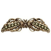Notting Hill NHP-650-AB, Pearly Peapod Pull in Antique Brass, Kitchen Garden Collection
