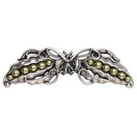 Notting Hill NHP-650-AP, Pearly Peapod Pull in Antique Pewter, Kitchen Garden Collection