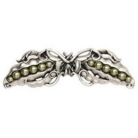 Notting Hill NHP-650-BP, Pearly Peapod Pull in Brilliant Pewter, Kitchen Garden
