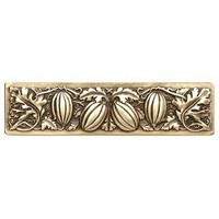 Notting Hill NHP-651-AB, Autumn Squash Pull in Antique Brass, Kitchen Garden Collection