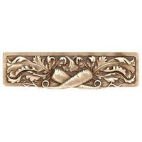 Notting Hill NHP-652-AB, Leafy Carrot Pull in Antique Brass, Kitchen Garden Collection