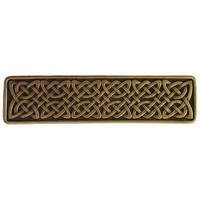 Notting Hill NHP-657-AB, Celtic Isles Pull in Antique Brass, Jewel