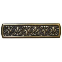 Notting Hill NHP-660-AB, Fleur-de-lis Pull in Antique Brass, Olde World Collection