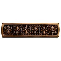 Notting Hill NHP-660-AC, Fleur-De-Lis Pull in Antique Copper, Olde World Collection
