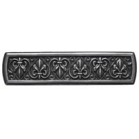 Notting Hill NHP-660-AP, Fleur-De-Lis Pull in Antique Pewter, Olde World Collection