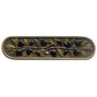 Notting Hill NHP-669-BHT, Olive Branch Pull in Hand-Tinted Antique Brass, Tuscan