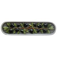Notting Hill NHP-669-PHT, Olive Branch Pull in Hand-Tinted Antique Pewter, Tuscan Collection