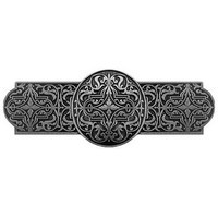 Notting Hill NHP-670-BP, Renaissance Pull in Brilliant Pewter, Olde World Collection