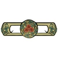 Notting Hill NHP-671-DB-A, Delaney's Rose Pull in Dark Brass/Yellow, Arts & Crafts
