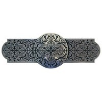 Notting Hill NHP-673-BP, Renaissance Etch Pull in Brilliant Pewter, Olde World Collection