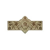 Notting Hill NHP-678-AB-B, Dianthus Pull in Antique Brass/Saffron, English Garden
