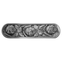 Notting Hill NHP-680-AP, Mckenna's Rose Pull in Antique Pewter, English Garden