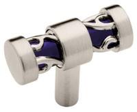 Liberty Hardware P16311C-281-C, Pull, Satin Nickel & Blue