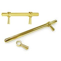 Deltana P311U3, Adjustable Bar Pull to 6in Centers, Bright Brass