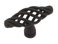 Liberty Hardware PN0528-FB-C, Birdcage Knob, 2in Dia, Flat Black