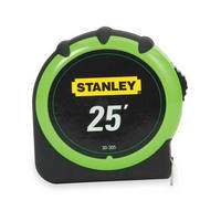Black and Decker 30-305, Tape Measure, 25ft, Standard Read, 1 Wide Blade, Hi Visibility, 4ft Standout