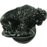 Sierra Lifestyles 681187, Knob, Buffalo Knob, Black, Western Collection