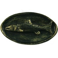 Sierra Lifestyles 681210, Knob, Fish Mount Knob, Bronzed Black, Rustic Lodge Collection