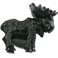 Sierra Lifestyles 681220, Knob, Realistic Moose, Right Facing, Black, Rustic Lodge
