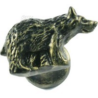 Sierra Lifestyles 681225, Knob, Bear Knob, Right Face, Bronze Blk, Rustic Lodge