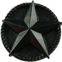 Sierra Lifestyles 681256, Knob, Star Knob - Black, Western Collection