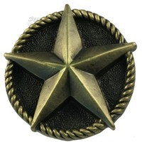 Sierra Lifestyles 681257, Knob, Star Knob, Antique Brass, Western