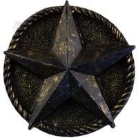 Sierra Lifestyles 681259, Knob, Star Knob, Bronzed Black, Western Collection