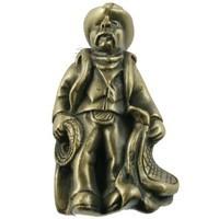 Sierra Lifestyles 681281, Knob, Cowboy Knob - Antique Brass, Western Collection