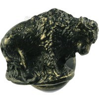 Sierra Lifestyles 681286, Knob, Buffalo Knob, Left Facing, Bronzed Black, Western Collection
