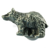 Sierra Lifestyles 681306, Knob, Bear Knob - Left Facing - Pewter, Rustic Lodge Collection