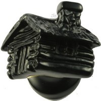 Sierra Lifestyles 681328, Knob, Cabin Knob, Black, Rustic Lodge Collection