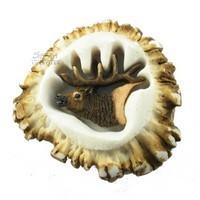 Sierra Lifestyles 681352, Knob, Deer Burr Knob, Elk, Rustic Lodge Collection