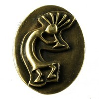 Sierra Lifestyles 681371, Knob, Kokopelli Knob, Antique Brass, Western Collection
