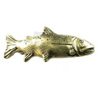 Sierra Lifestyles 681401, Pull, Trout Pull, Antique Brass, Rustic Lodge Collection