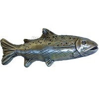 Sierra Lifestyles 681402, Trout Pull, Right Facing, Pewter, Rustic Lodge
