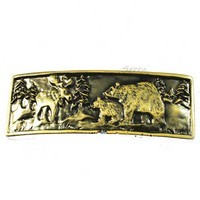 Sierra Lifestyles 681429, Pull, Wilderness Pull - Antique Brass, Rustic Lodge Collection
